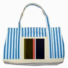 Decorative lines Striped Blue Tote Bag