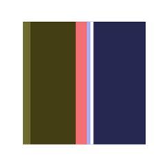 Decorative lines Small Satin Scarf (Square)