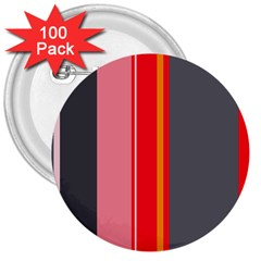 Optimistic lines 3  Buttons (100 pack)