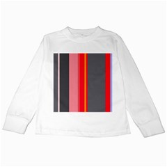 Optimistic lines Kids Long Sleeve T-Shirts