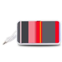 Optimistic lines Portable Speaker (White)