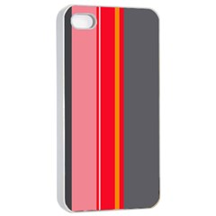 Optimistic lines Apple iPhone 4/4s Seamless Case (White)