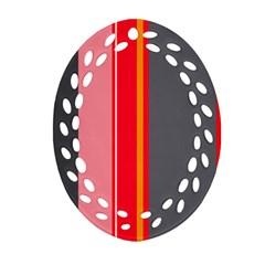 Optimistic lines Oval Filigree Ornament (2-Side)