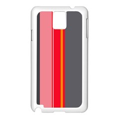 Optimistic lines Samsung Galaxy Note 3 N9005 Case (White)