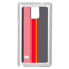 Optimistic lines Samsung Galaxy Note 4 Case (White)
