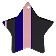 Purple, pink and gray lines Ornament (Star)