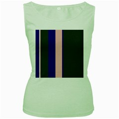 Purple, pink and gray lines Women s Green Tank Top