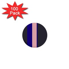 Purple, pink and gray lines 1  Mini Buttons (100 pack)