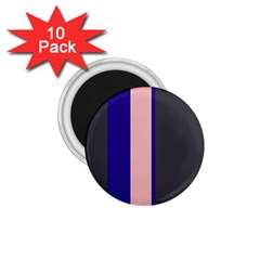 Purple, pink and gray lines 1.75  Magnets (10 pack)
