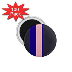 Purple, pink and gray lines 1.75  Magnets (100 pack)