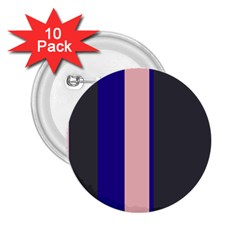 Purple, pink and gray lines 2.25  Buttons (10 pack)