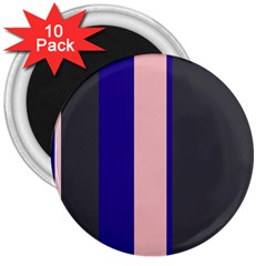 Purple, pink and gray lines 3  Magnets (10 pack)