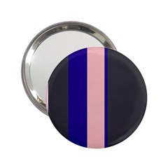 Purple, pink and gray lines 2.25  Handbag Mirrors