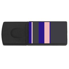 Purple, pink and gray lines USB Flash Drive Rectangular (1 GB)