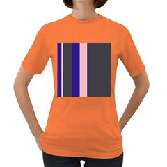 Purple, pink and gray lines Women s Dark T-Shirt