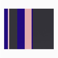 Purple, pink and gray lines Small Glasses Cloth