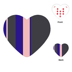 Purple, pink and gray lines Playing Cards (Heart)