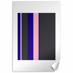Purple, pink and gray lines Canvas 20  x 30