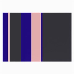 Purple, pink and gray lines Large Glasses Cloth (2-Side)