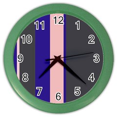 Purple, pink and gray lines Color Wall Clocks