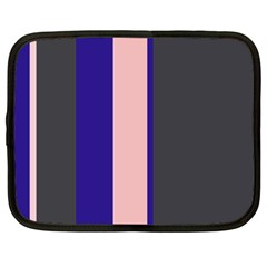 Purple, pink and gray lines Netbook Case (Large)