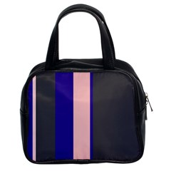 Purple, pink and gray lines Classic Handbags (2 Sides)