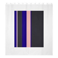 Purple, pink and gray lines Shower Curtain 66  x 72  (Large)