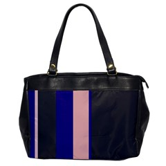 Purple, pink and gray lines Office Handbags