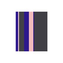 Purple, pink and gray lines Shower Curtain 48  x 72  (Small)