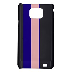 Purple, pink and gray lines Samsung Galaxy S2 i9100 Hardshell Case