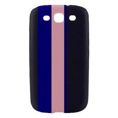 Purple, pink and gray lines Samsung Galaxy S III Hardshell Case