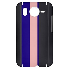 Purple, pink and gray lines HTC Desire HD Hardshell Case