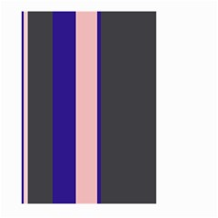 Purple, pink and gray lines Large Garden Flag (Two Sides)
