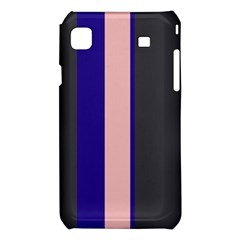 Purple, pink and gray lines Samsung Galaxy S i9008 Hardshell Case