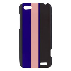 Purple, pink and gray lines HTC One V Hardshell Case