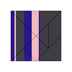 Purple, pink and gray lines Acrylic Tangram Puzzle (4  x 4 )
