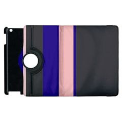 Purple, pink and gray lines Apple iPad 2 Flip 360 Case