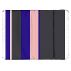 Purple, pink and gray lines Samsung Galaxy Tab 7  P1000 Flip Case