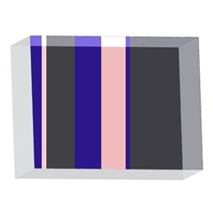 Purple, pink and gray lines 5 x 7  Acrylic Photo Blocks