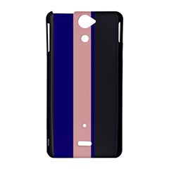 Purple, pink and gray lines Sony Xperia V