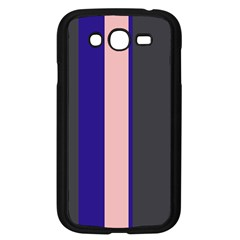 Purple, pink and gray lines Samsung Galaxy Grand DUOS I9082 Case (Black)