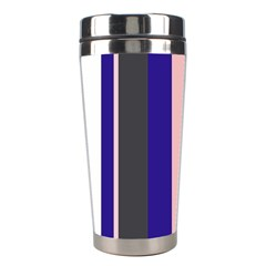 Purple, pink and gray lines Stainless Steel Travel Tumblers