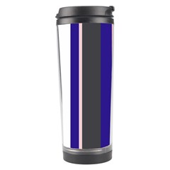 Purple, pink and gray lines Travel Tumbler