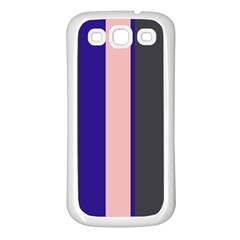 Purple, pink and gray lines Samsung Galaxy S3 Back Case (White)