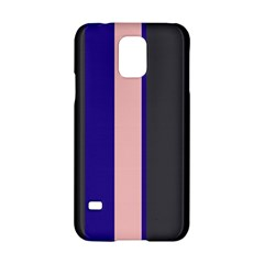 Purple, pink and gray lines Samsung Galaxy S5 Hardshell Case