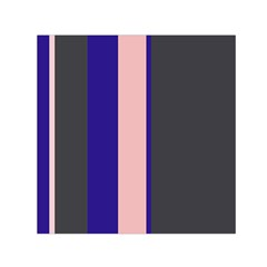 Purple, pink and gray lines Small Satin Scarf (Square)