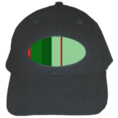 Green and red design Black Cap