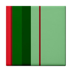 Green and red design Tile Coasters
