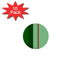 Green and red design 1  Mini Buttons (10 pack)