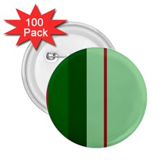 Green and red design 2.25  Buttons (100 pack)